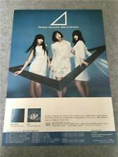 Perfume 3rd ALBUM triangle 2009 Double-sided Poster Japan B2 jpop dance music
