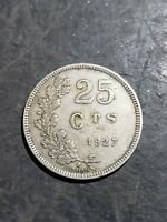 1927 Luxembourg 25 cents- one year type coin, inv#9970
