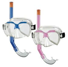 Beco Kinder Tauchermaske diving Set ARI Masken-Schnorchel-Set kids +4 blau pink