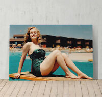 Marilyn Monroe Canvas Print Decorative Picture Wall Art Decor at the Pool
