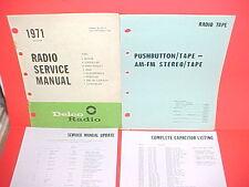 1971 MONTE CARLO CAMARO CHEVELLE SS EL CAMINO DELCO AM-FM/8-TRACK SERVICE MANUAL