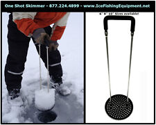 One Shot Skimmer Ice Scoop Slush Remover for Ice fishing - Fits 6 inch hole