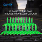 10 Pairs GEPRC 5040 5in 3- Propeller Triblade Props for FPV Racing M5K3