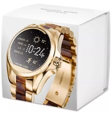 NWT MICHAEL KORS Access Gold & Brown Bradshaw Touch Screen Smartwatch MKT5003