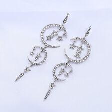 Planet Crystal Dangle Stud Earring Jewelry Fashion Korean Womens Girls Star Moon