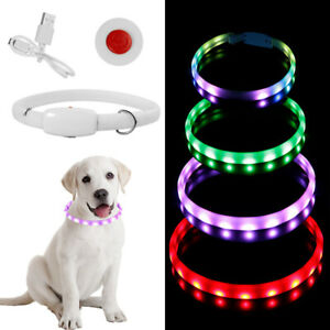 Dog LED Collar USB Rechargeable Anti-Lost Flashing Collars Glow Pet Supplies