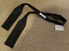 NWT Turnbull & Asser Black Batwing Silk (Satin Weave) Bow Tie