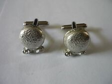 Cufflinks Made From English Modern Pewter Misty Crystal Ball Fortune Teller tg1
