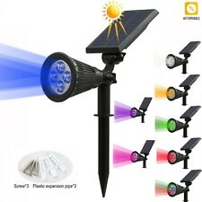 Solar Spotlight LED Lamp Adjustable Solar Powered In-Ground Waterproof Outdoor