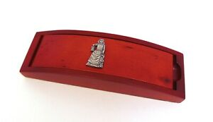 Florence Nightingale on Red Wooden Pen Box & Pen Set - Midwife Carer Nurse Gift