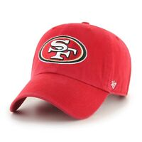 San Francisco 49ers 47 Brand Clean Up Adjustable Field Classic Red Hat Dad Cap