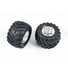 Tamiya 58242 Wild Willy 2/Mad Bull, 9805619/19805619 Rear Tire & Wheel (2 Pcs.)