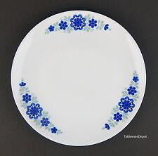 "MITTERTEICH: 9 5/8"" Dinner Plate, SUPERB+! Blue & Gray Flowers, Bavaria, Germany"