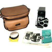 Bell Howell Electric Eye 8mm Video Camera W/paperwork Leather Case Film Works