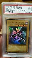 Yugioh Red Eyes B. Dragon LOB-070 1st Ed. New Mint condition PSA Rated 9