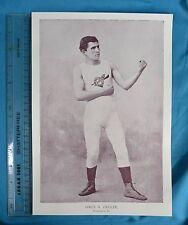 Original 1894 Antique Print Portrait Gallery Of Pugilists Owen H Ziegler Boxer
