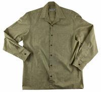 Men's Vintage VAG Sage Green Floral Shirt Size M - L Made In Australia