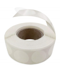 Mailing Seals Clear for Envelopes Wafer Shape 1-Inch Circle 1,000 per Roll Round