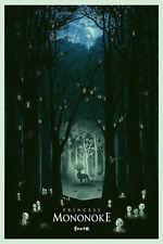 W473 Art Poster Princess Mononoke 20th Anniversary Studio Ghibli 14x21 24x36