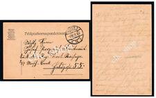 1 FELDPOST KARTE BOZEN 2 - 2d 1917 POSTA DA CAMPO PRIMA GUERRA KUK WW1 WK1