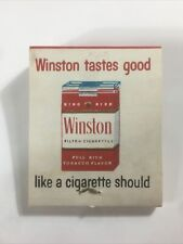 Vintage Advertising Matchbook WINSTON CIGARETTES Unused Matches - FREE SHIPPING