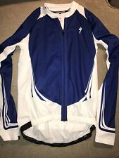 Men's Specialized Lightweight Cycling Jacket Blue White Medium M