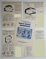 Vintage Lot Douglas Fir Building Plans Record Cabinet Table Shelf-Door Wardrobe
