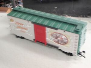 Lionel 87031 Large G Scale Christmas 2009 SILVER BOXCAR HAPPY HOLIDAYS RAILROAD