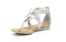 Michael Kors Girls Toddler Demi Sash T-888 Silver Sandals Cork Shoes NIB Sz 1