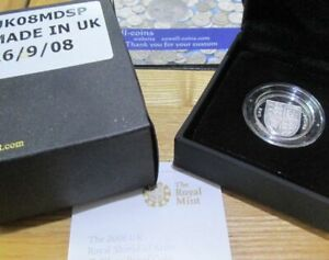 UK 2008 Royal Mint £1 ONE Pound Silver Proof SHIELD OF ARMS Coin box/COA
