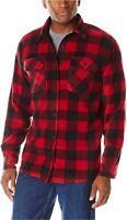 Wrangler Authentics Men's Long Sleeve Plaid Fleece Shirt, Red, Red, Size Large 0