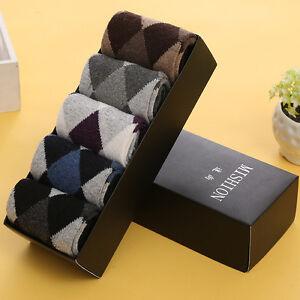 5 Pairs Mens Warm & Soft Comfort Wool Cashmere Dress Sock Winter Thick Socks New