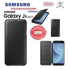 Samsung Wallet Custodia per Galaxy J5 (2017) Nero (u9o)