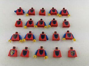 Lego® Ritter Castle 20 Oberkörper Figuren schlechter Druck Crusader Axe