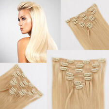 "24"" Indian Remy Clip in On Hair extensions 120g 7pcs"
