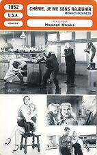 Fiche Cinéma. Movie Card. Chérie, je me sens rajeunir/Monkey Business (USA) 1952