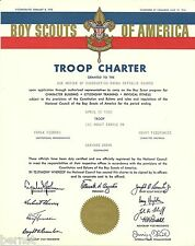 1965 BOY SCOUT - TROOP CHARTER - TROOP 161- MOUNT CARMEL, PENNSYLVANIA