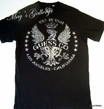 GUESS Jeans  Blouse  T - shirt  Tee Top Men's SS  Tank Black NWOT S