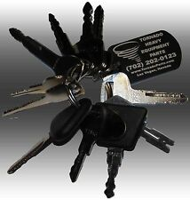 Forklift Heavy Equipment / Construction Ignition Key Set (11 Keys)