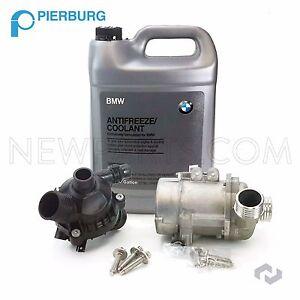 For BMW 325i 328i 525i X3 OEM Electric Water Pump Kit & Antifreeze & Thermostat