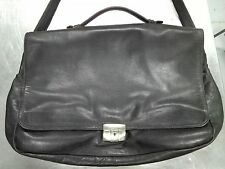 Vintage Black Leather Mish Briefcase Red Leather Interior Charles Stone Hardware