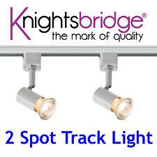 Knightsbridge Simple Circuit 2 Point éclairage sur rail lumière LED 1 Mètre
