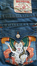 "TRUE RELIGION brand JEANS ""JOEY"" embroidery POCKET - Size 34"