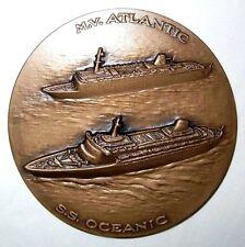 ITALY / HOME LINES CRUISE SHIP S.S. OCEANIC & M.V. ATLANTIC / BRONZE MEDAL N134