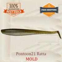 Pontoon21 Ratta Shad Fishing Mold Mould Lure Bait Soft Plastic 38-100 mm