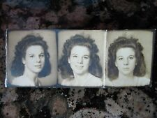VINTAGE ARTISTIC PHOTO BOOTH STRIP AMERICAN TEEN BEAUTY EXPRESSIONS LIPS  PHOTO
