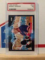 Manny Ramirez 1994 Score Rookie Baseball Card #645 PSA 7 NM Cleveland Indians
