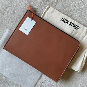 Jack Spade Tablet Portfolio Fulton Leather Tobacco Document iPad Ghurka NWT $248