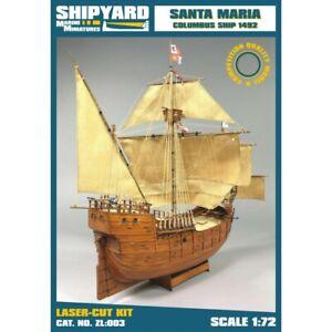 Vessel Shipyard ZL003 Santa Maria Scale: 1/72 Laser Cut Kit 15 11/32x18