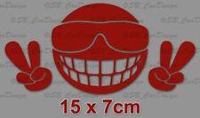 Be Cool cara sonriente pegatinas Fun sticker Peace decal murales diapositiva